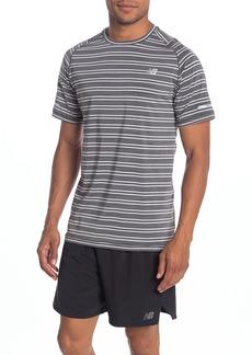 New Balance Seasonless Striped Tech Running T-Shirt
