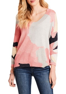 NIC + ZOE Citrus Splash Knit V-Neck Sweater (Regular & Petite)
