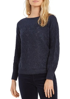 NIC + ZOE NIC and ZOE All That Glitters Cable Knit Sweater