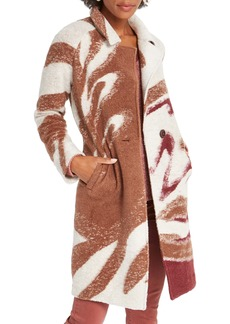 NIC + ZOE NIC+ZOE Abstract Waves Sweater Coat