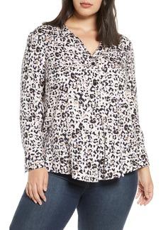 NIC + ZOE NIC+ZOE Cheetah Print Shirt (Plus Size)