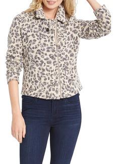 NIC + ZOE NIC+ZOE Faded Leopard Sweater Jacket