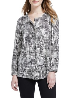 NIC + ZOE NIC+ZOE Fine Tune Graphic Print Top