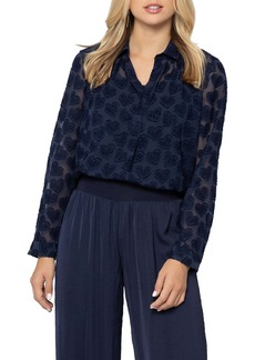 NIC + ZOE NIC+ZOE Heart On My Sleeve Jacquard Blouse