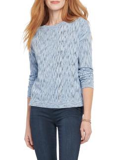 NIC + ZOE NIC+ZOE Mottled Stripe Pullover (Regular & Petite)