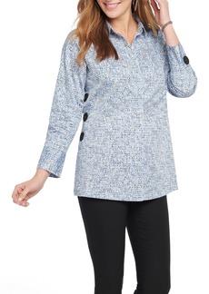 NIC + ZOE NIC+ZOE Naples Button Detail Tunic Shirt (Regular & Petite)