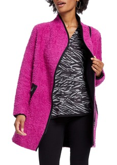 NIC + ZOE NIC+ZOE Pretty in Pink Fuzzy Cotton Blend Coat