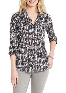 NIC + ZOE NIC+ZOE Rain Dots Button-Up Shirt