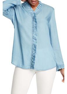 NIC + ZOE NIC+ZOE Ruffled-Up Denim Shirt (Petite)