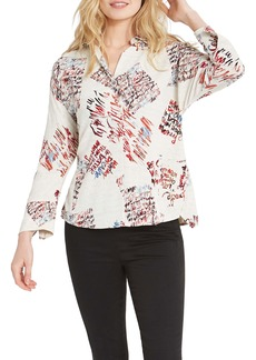 NIC + ZOE NIC+ZOE Scattered Letters Blouse