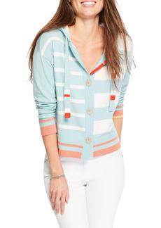 NIC + ZOE NIC+ZOE Stripe Hooded Cardigan (Regular & Petite)