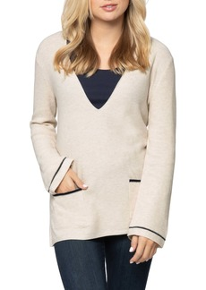 NIC + ZOE NIC+ZOE V-Neck Sweater (Regular & Petite)