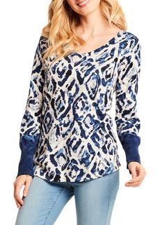NIC + ZOE NIC+ZOE Vital Print Sweater