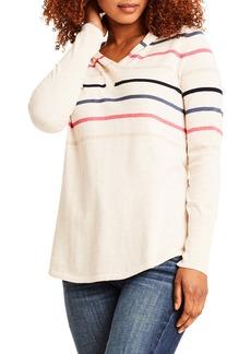 NIC + ZOE NIC+ZOE Vital Stripe Hooded Sweater
