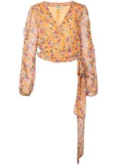 NICHOLAS floral print wrap blouse