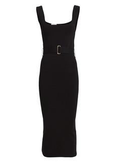 NICHOLAS Belted Knit Midi Dress