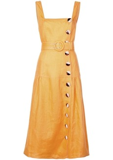 NICHOLAS button Pinafore dress