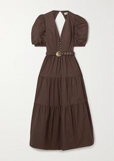 NICHOLAS Cecile Tiered Cotton-poplin Maxi Dress