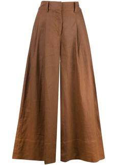 NICHOLAS colour block flared trousers