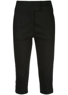 NICHOLAS cropped slim-fit trousers
