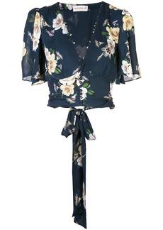 NICHOLAS floral print cropped top