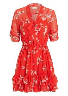 NICHOLAS Floral Ruffle Mini Dress