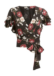 NICHOLAS Floral Tie Front Top