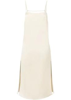 NICHOLAS Gabi chain-embellished silk dress