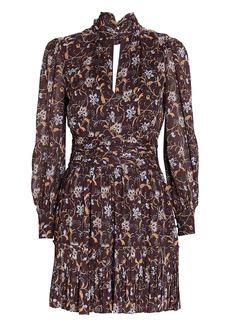 NICHOLAS Gemma Printed Chiffon Mini Dress