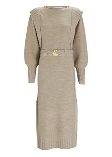 NICHOLAS Justine Wool Midi Sweater Dress