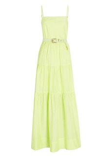 NICHOLAS Kerala Tiered Poplin Maxi Dress