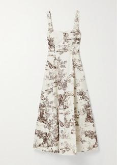 NICHOLAS Kiki Floral-print Stretch-cotton Twill Midi Dress