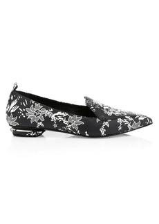 Nicholas Kirkwood Beya Printed Leather Loafers