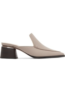 Beya textured-leather mules