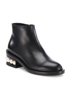 Nicholas Kirkwood Casati Pearly Heel Leather Ankle Boots