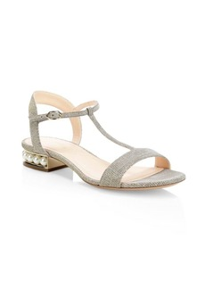 Nicholas Kirkwood Casati Pearly Heel T-Strap Sandals
