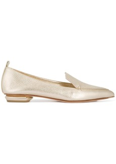 Nicholas Kirkwood Gold Beya Leather Pointed loafers