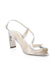 Nicholas Kirkwood Maevai Leather Pearly Heel Sandals