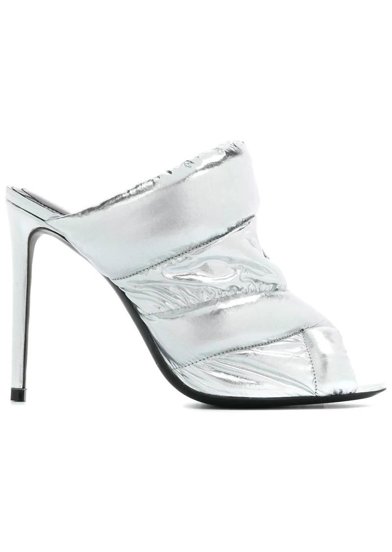 Nicholas Kirkwood metallic high heel sandals