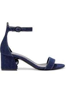 Nicholas Kirkwood Miri Faux Pearl-embellished Denim Sandals