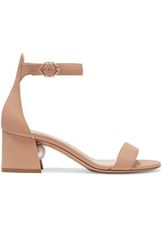 Nicholas Kirkwood Miri Faux Pearl-embellished Leather Sandals