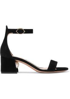 Nicholas Kirkwood Miri Faux Pearl-embellished Suede Sandals