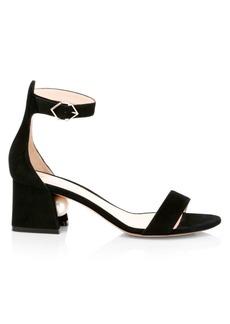 Nicholas Kirkwood Miri Faux Pearl Suede Ankle-Strap Sandals