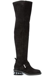 Nicholas Kirkwood 35mm Casati Pearl OTK boots - Black