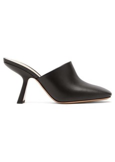 Nicholas Kirkwood Alba square-toe leather mules