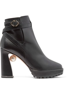 Nicholas Kirkwood Annabel Embellished Leather Boots