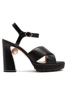 Nicholas Kirkwood Annabel pearl-heeled platform sandals