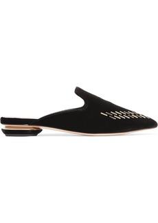 Nicholas Kirkwood Beya embellished velvet slippers