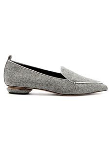 Nicholas Kirkwood Beya felt loafers