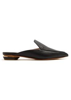 Nicholas Kirkwood Beya grained-leather backless loafers